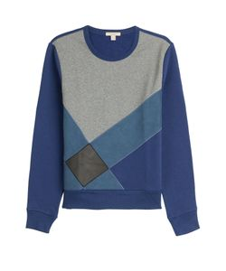 Burberry Brit | Cotton Sweatshirt With Leather Gr. S