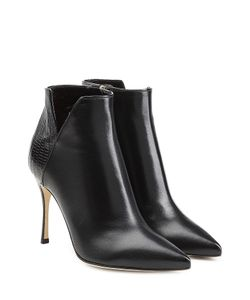 Sergio Rossi | Leather Ankle Boots Gr. It 375
