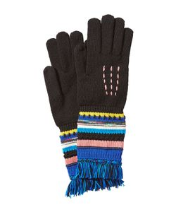 Missoni | Wool Gloves With Striping And Fringe Gr. S