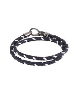 Tods   Braided Leather Wrap Bracelet Gr. One Size