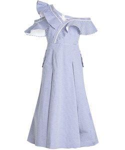 Self-Portrait | Striped Off-Shoulder Dress In Cotton Gr. Uk 10