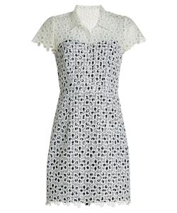 Anna Sui | Printed Eyelet Dress Gr. Us 4