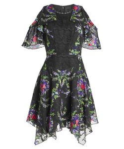 Anna Sui | Printed Dress With Lace Gr. Us 2