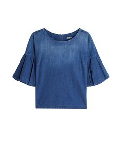 Seven for all Mankind | Denim Top With Fla Sleeves Gr. S