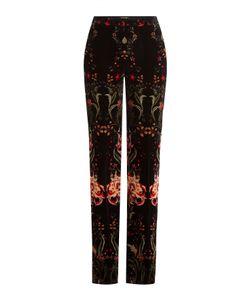 Roberto Cavalli   Printed Velvet Wide Leg Pants Gr. It 40