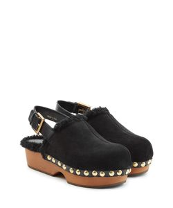 Alexander McQueen | Suede And Shearling Clogs Gr. It 39