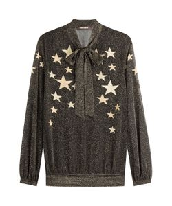 Roberto Cavalli | Star Printed Lurex Blouse Gr. It 38