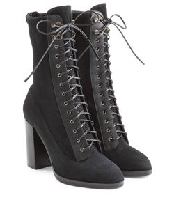 Sergio Rossi | Lace Up Suede Boots Gr. It 38