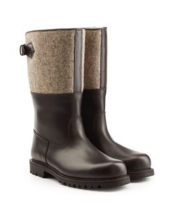 Ludwig Reiter | Leather Boots With Felt Gr. Uk 85