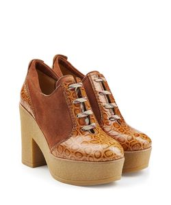See by Chloé | Leather And Suede Platform Clogs Gr. It 38