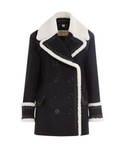Burberry London | Wool Jacket With Textured Trims Gr. Uk 8