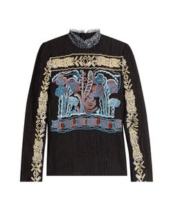 Peter Pilotto | Embroidered High Neck Top Gr. Uk 8