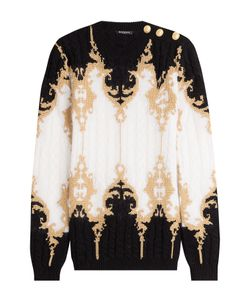 Balmain | Pullover With Embossed Buttons And Metallic Thread Gr. Fr 36