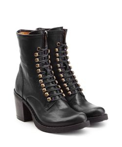 Fiorentini & Baker | Leather Lace-Up Boots Gr. It 37