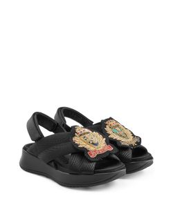 Burberry Prorsum | Fabric Sandals With Embroidered Badge Gr. It 36