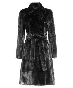 Fendi | Mink Coat With Leather Gr. It 42