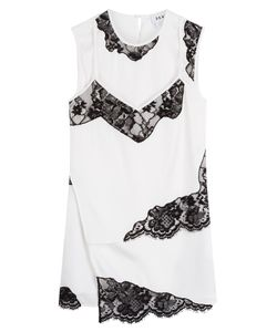 DKNY | Silk Top With Lace Inserts Gr. M