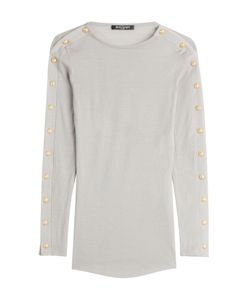 Balmain | Wool Pullover With Embossed Buttons Gr. Fr 36