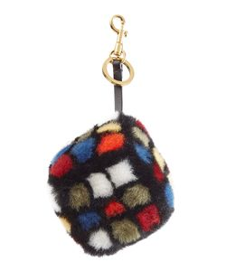 Anya Hindmarch | Shearling Rubiks Cube Keychain Gr. One Size