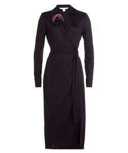Diane von Furstenberg | Wrap Dress With Printed Corsage Gr. Us 4