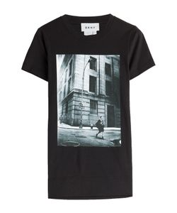 DKNY | Printed Cotton T-Shirt Gr. M