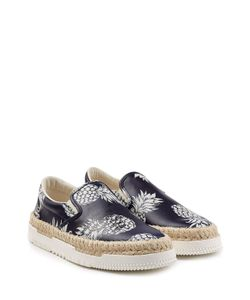 Valentino | Leather Slip-On Sneakers With Raffia Gr. Eu 40