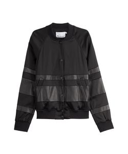 T by Alexander Wang | Leather Detailed Baseball Jacket Gr. 8