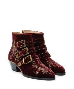 Chloé | Studded Susanna Suede Ankle Boots Gr. It 385