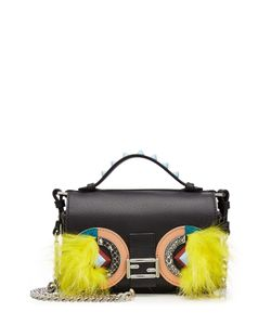 Fendi   Embellished Leather Double Baguette Shoulder Bag Gr. One Size