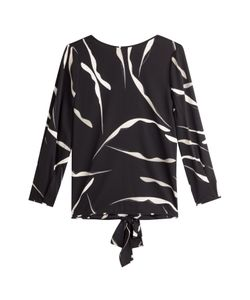 Diane von Furstenberg | Printed Silk Top With Tie Back Gr. M