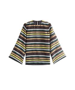 Emilia Wickstead | Striped Top With Silk Gr. Uk 6