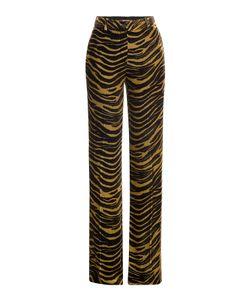 Roberto Cavalli | Velvet Wide Leg Animal Print Pants Gr. It 38