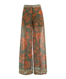 Valentino | Printed Cotton Wide Leg Pants Gr. It 38