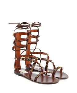 Valentino | Rolling Rockstud Embellished Leather Sandals Gr. It 38