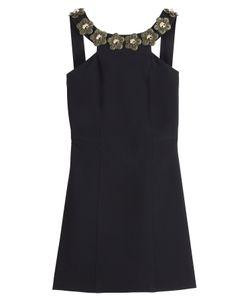 Fendi | Floral Embellished Crepe Sable Dress Gr. It 38