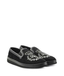 Dolce & Gabbana | Embellished Leather Slip-Ons Gr. Eu 40