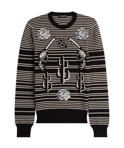 Dolce & Gabbana | Striped Cashmere Pullover With Patches Gr. Eu 48