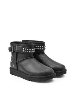 UGG Australia | Neva Studs Leather Boots With Shearling Gr. Us 7