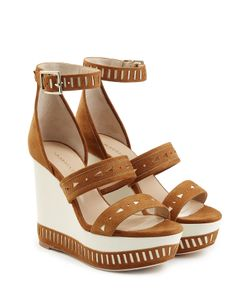 Tamara Mellon | Suede Zabriskie Wedge Sandals Gr. It 36