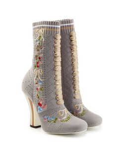 Fendi | Embroidered Boot Heels Gr. It 38