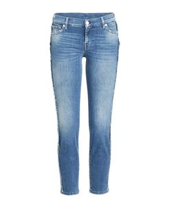 Seven for all Mankind | Frayed Cropped Straight Jeans Gr. 26