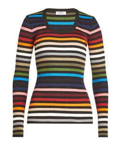 Sonia Rykiel | Printed Knit Top With Cotton Gr. S