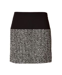 Bouchra Jarrar | Wool-Cotton Skirt With Tweed Panel Gr. Fr 36