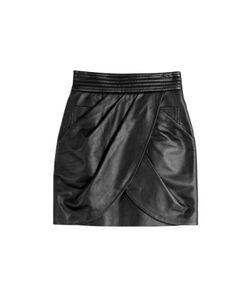 Balmain | Draped Leather Skirt Gr. Fr 40