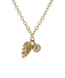 Carolina Bucci | Owls Eye Wing 18k Gold Necklace With Diamond Gr. One