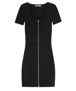 T by Alexander Wang | Cotton Dress With Zipped Front Gr. Xs