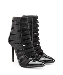 Tamara Mellon | Patent Leather/Suede Corset Booties Gr. It 39