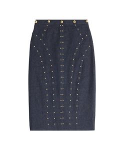 Tamara Mellon | Denim Skirt With Studs Gr. Us 6