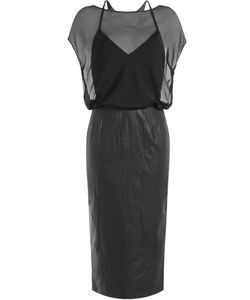 Tamara Mellon | Leather And Silk Dress Gr. Us 2