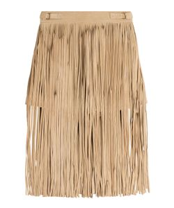 Tamara Mellon | Fringed Suede Shorts Gr. Us 4